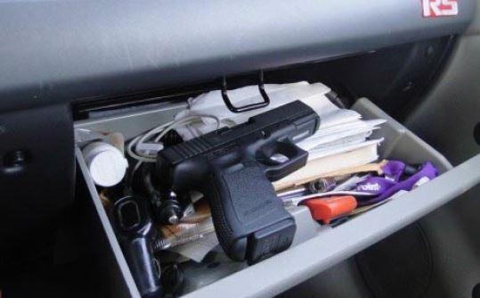Gun in Glove Compartment